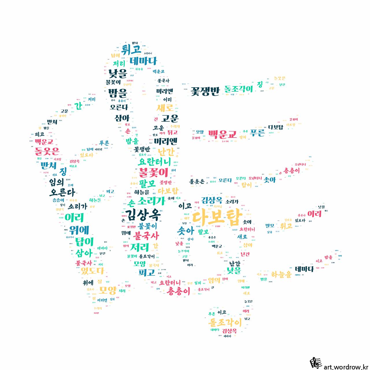 워드 클라우드: 다보탑 [김상옥]-58